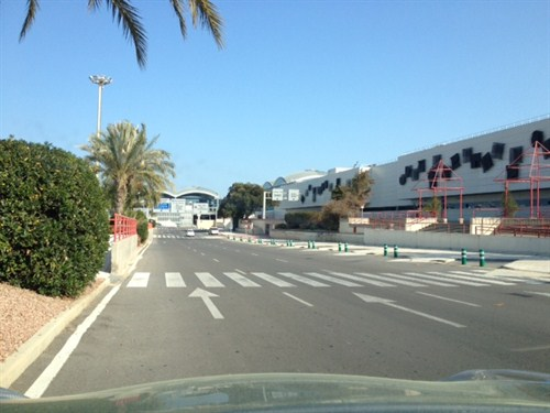 Stage 1 : Follow the signs for rentacar and drive past the Alicante Airport terminal car hire