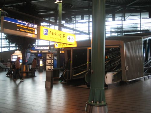 Collecting A Car Hire At Amsterdam Airport Schiphol