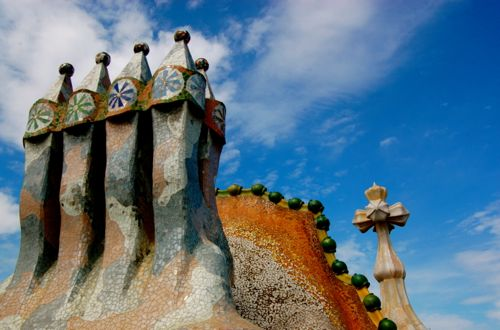 Barcelona, Spain - Casa Batllo by Gaudi - Barcelona Airport car hire