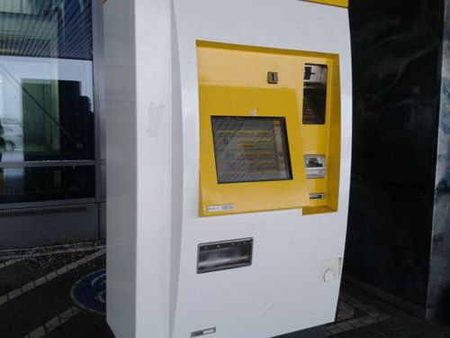 Berlin, Germany - Berlin ticket machine - Berlin Schonefeld Airport car hire