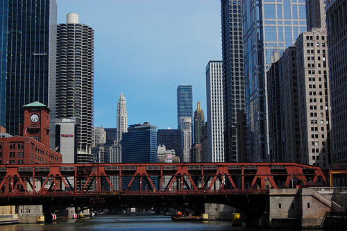 Chicago, USA, Chicago from a river tour - Chicago car hire