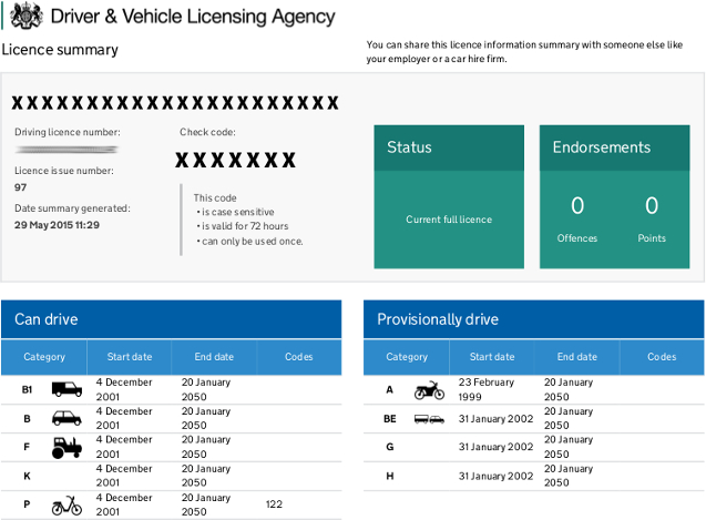 Dvla Driving Licence For Car Hire