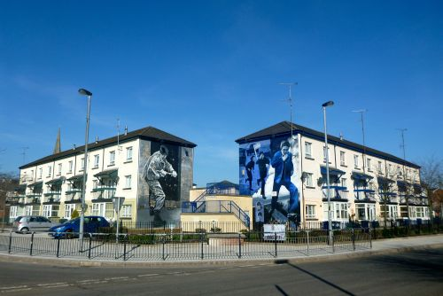 Derry-Londonderry, Northern Ireland - Bogside Murals - Belfast Airport car hire
