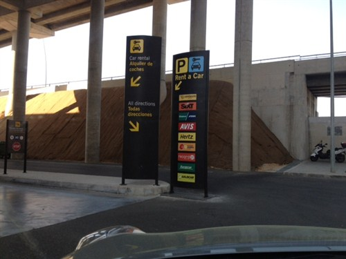 This is where you enter when you are returning an on-airport car hire to the car rental company at Alicante Airport.