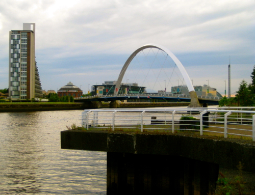 Glasgow, Scotland - Arch Bridge - Glasgow Airport car hire