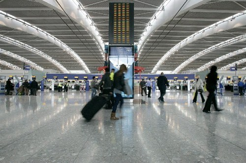 Inside Heathrow Airport - Cheap car hire from CarJet