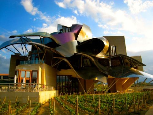 Grape harvest time in spain rioja sherry and cava wine trips - Arquitecto bodegas marques de riscal ...
