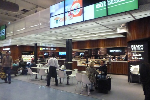 Lisbon, Portugal - Terminal 2 departures post-security Cafe and bar - Lisbon Airport car hire