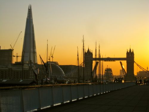 London - Tower Bridge opens for a tall ship - London car hire