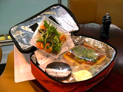London Heathrow T5 - Gordon Ramsay's Plane Food picnic box - Low-cost car hire from CarJet