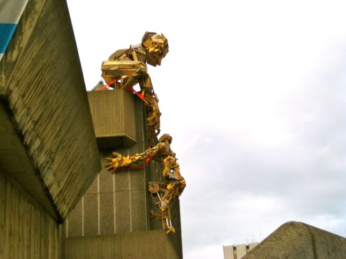 London, UK - Art outside the Hayward Gallery - London car hire