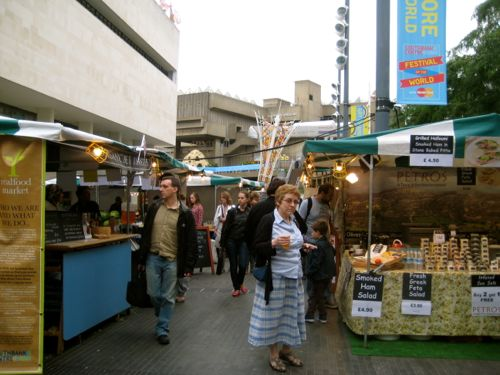 London, UK - Real Food Market, Royal Festival Hall - London car hire
