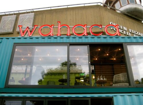 London, UK - Wahaca, Southbank, up close - London car hire
