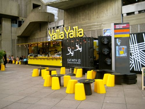 London, UK - Yalla Yalla by the Hayward Gallery - London car hire