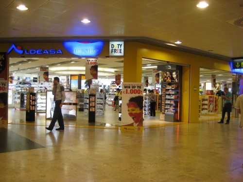 Madrid Airport T1 Departures - Duty Free: Madrid Airport car hire