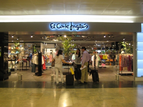 Madrid Airport T1 Departures - El Corte Ingles: Madrid Airport car hire
