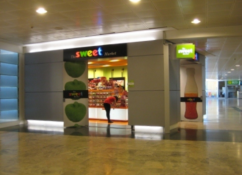 Madrid Airport T1 Departures - Sweet Shop: Madrid Airport car hire