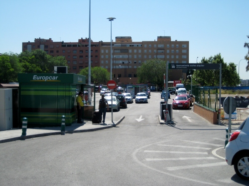 Madrid Atocha Railway Station - entrance to car hire car park: Madrid Atocha Station car hire
