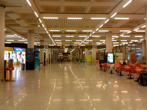 Mallorca Spain Departures Go Left To Departure Gates Palma De Mallorca Airport Car Hire on Side Post Terminal