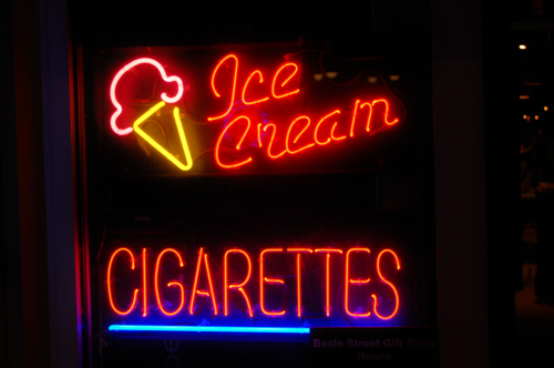 Memphis, USA - ice cream and cigarettes - Memphis car hire