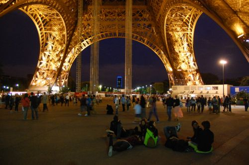 Paris, France - Sat below the Eiffel Tower - France car hire