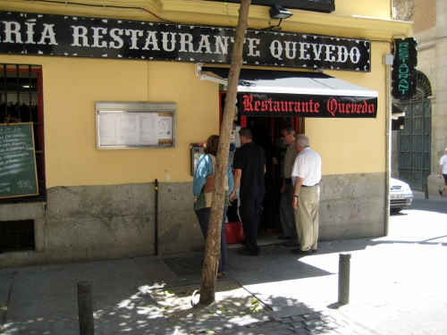 Restaurant Quevado Madrid: Madrid car hire