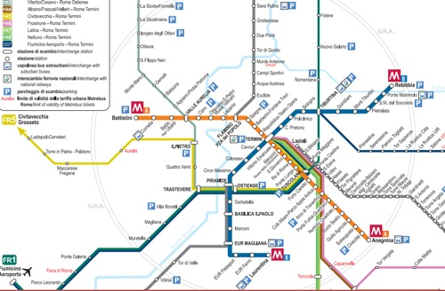 Travel Between Rome And Rome Fiumicino Airport - Rome map with airports