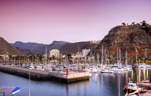San Sebastian Port in La Gomera by Wolfgang Staudt - La Gomera car hire
