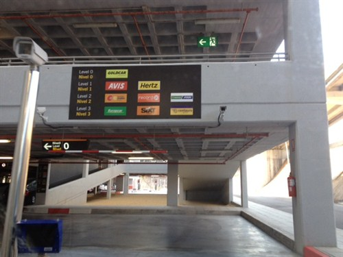 Use these ramps to reach the car hire companies on higher floors at Alicante Airport