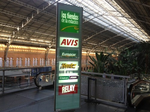car hire at Madrid Atocha Railway Station: Madrid Atocha Station car hire
