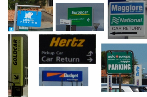 car hire signs